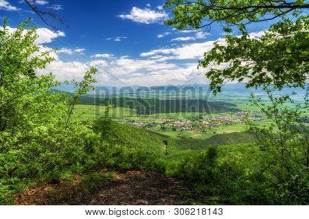 View From Place Called Klastorna Vyhliadka At Hill Zniev On Mala Fatra Mountains, Slovakia