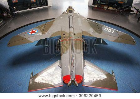 Belgrade, Serbia-mart 16, 2019: Yugoslav Eagle Plane Im Museum Yurom J-22h Orao (eagle) Aeronautical