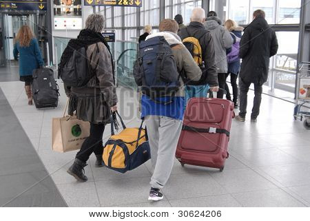 Denmark passengers At Airport