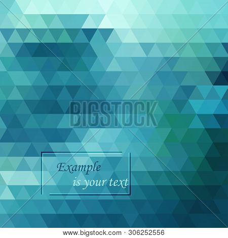 Light Blue, Green Vector Polygonal Illustration, Which Consist Of Triangles.