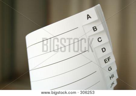 Letter Index
