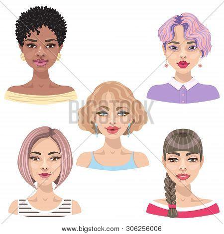 Set Cute Cartoon Vector Photo Free Trial Bigstock