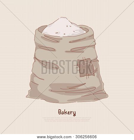 Natural Bread, Dough, Pastry Ingredient, Powdered Wheat, Cereal Grains Harvest, Agriculture, Bakehou