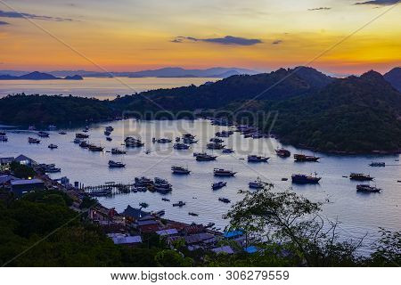 Aerial View Of Labuan Bajo Port, Komodo Island Indonesia
