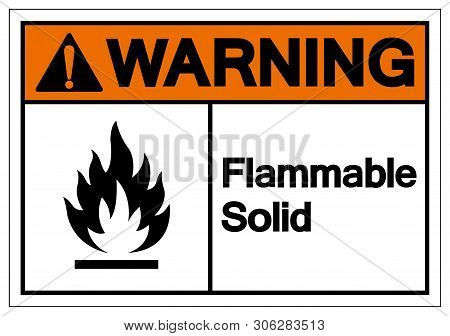Warning Flammable Solid Symbol Sign ,vector Illustration, Isolate On White Background Label .eps10