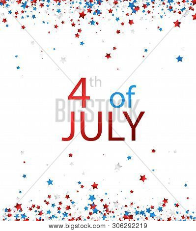 4th Of July. Usa Independence Day Background.