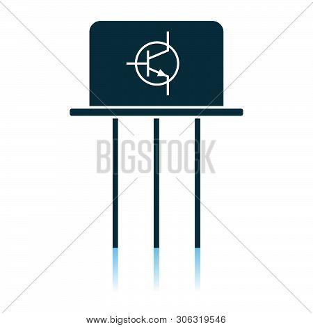 Transistor Icon. Shadow Reflection Design. Vector Illustration.