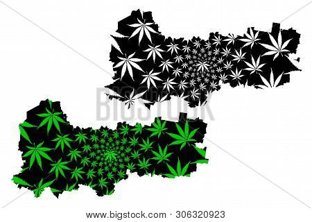 Vologda Oblast (russia, Subjects Of The Russian Federation, Oblasts Of Russia) Map Is Designed Canna