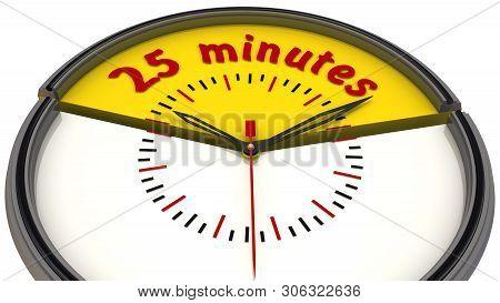 Twenty Five Minutes On The Clock. Translation Text: