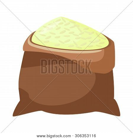 Vector Design Of Bag  And Rice Icon. Collection Of Bag  And Wholesale Vector Icon For Stock.
