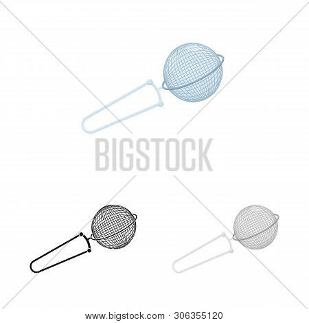 Vector Design Of Strainer And Tea  Icon. Set Of Strainer And Tool  Stock Vector Illustration.