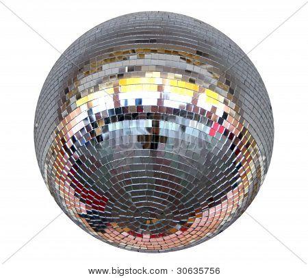 lighting mirror-ball over white
