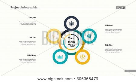 Five Points Process Chart. Business Data. Plan, Diagram, Design. Creative Concept For Infographic, T