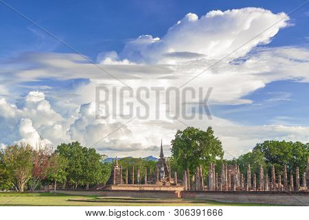The Temple In Sukhothai Province Of Thailand