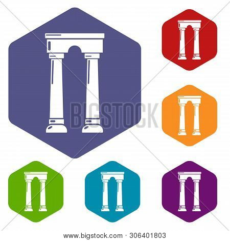 Archway Egypt Icon. Simple Illustration Of Archway Egypt Vector Icon For Web