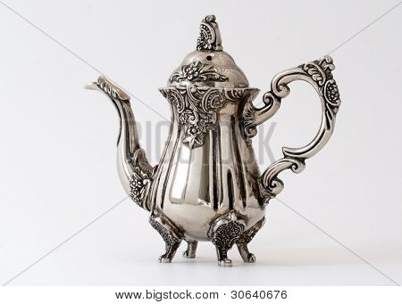 Silver Miniature Teapot - Slightly Turned