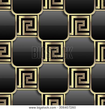 Elegant Black Gold 3d Vector Photo Free Trial Bigstock