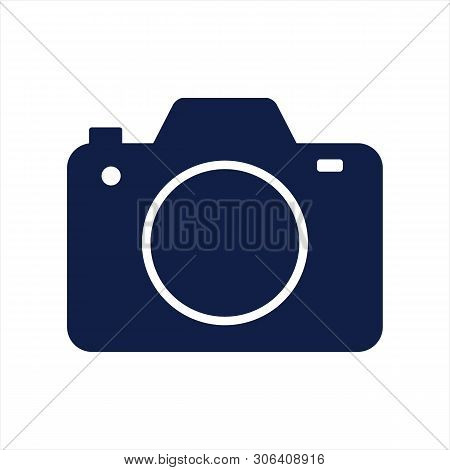 Photo Camera Icon Isolated On White Background. Photo Camera Icon In Trendy Design Style. Photo Came