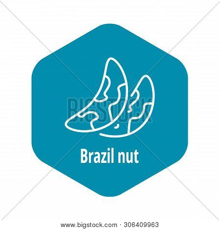 Brazil Nut Icon. Outline Brazil Nut Vector Icon For Web Design Isolated On White Background