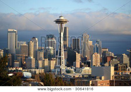 Sunny Day Seattle Skyline