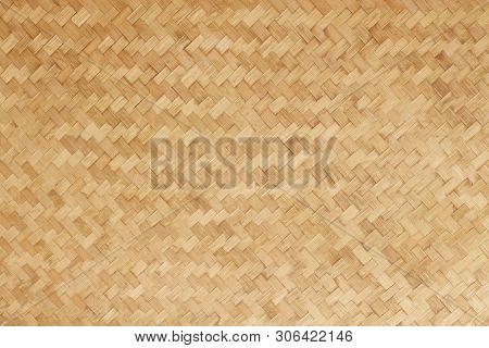 Bamboo Woven Flat Mat Natural Bamboo Background
