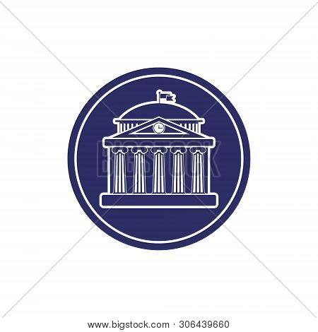 University Building Sign, Bank, Museum,  Library, Parliament. Classical Greece Roman Architecture Wi