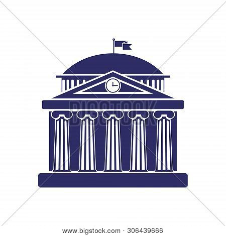 University Building Sign, Bank, Museum, Library, Parliament. Classical Greece Roman Architecture Wit