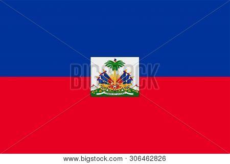 Flag Of Haiti. Sovereign State Flag Of Haiti
