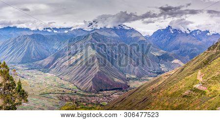 Over Look Peruvian Andes Mountains Near Machu Picchu, Incas Ruins Close To Cuzco