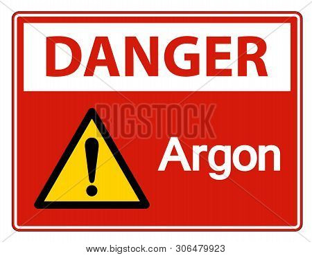 Danger Argon Symbol Sign Isolate On White Background,vector Illustration