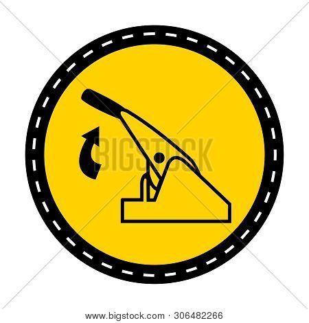 Pull Parking Brake Symbol Sign Isolate On White Background,vector Illustration