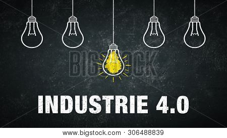 Banner Graphic - Industrie 4.0 - German Text - Translation: Industry 4.0