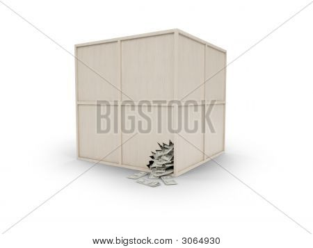 Wood Box With Money
