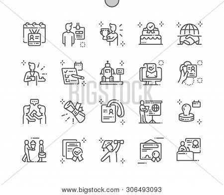 International Accreditation Day Well-crafted Pixel Perfect Vector Thin Line Icons 30 2x Grid For Web