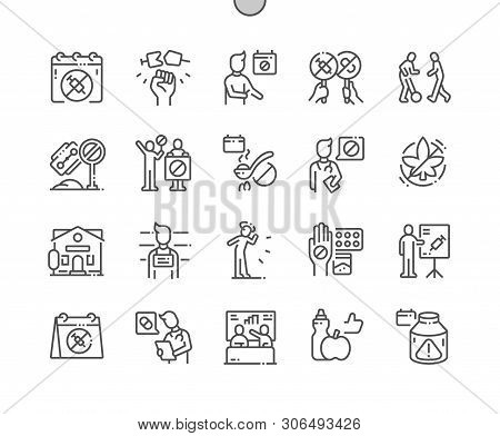 International Day Against Drug Abuse And Illicit Trafficking Well-crafted Pixel Perfect Vector Thin