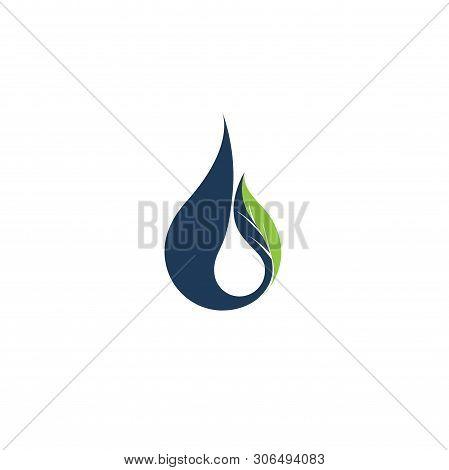 Drops Logos. Colored Water Aqua Splashes Nature Symbols Liquid Food And Oil Vector Template Icons Of