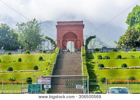 Mughal Gardens Or (nishat Bagh Garden) Srinagar, Jammu And Kashmir, India January 2019 - View Of Nis