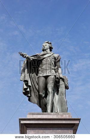 King Gustav Iii Of Sweden (1746-1792) Statue By Johan Tobias Sergel (1740-1814) Located At Skeppsbro