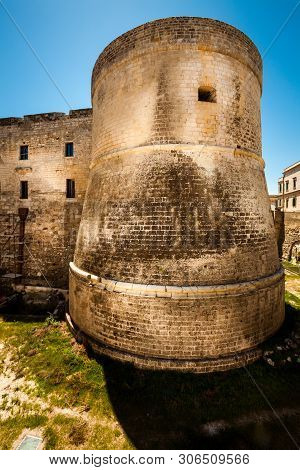 Castle Of Otranto. Fortress Named Town Located In Puglia, In The Province Of Lecce. The Castle Is Cl