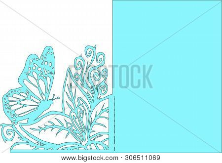 Butterfly Pattern For Card, Wedding Tamplate Butterfly, Cut Butterfly Pattern, Cricut Design, Vector