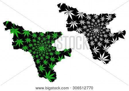Amur Oblast (russia, Subjects Of The Russian Federation, Oblasts Of Russia) Map Is Designed Cannabis