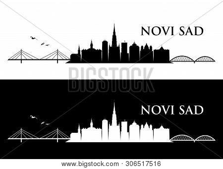 Novi Sad Skyline - Serbia - Vector Illustration - Vector
