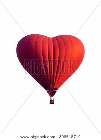 Hot Air Balloon  Isolated On White Background.