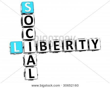 3D Social Liberty Life Crossword Cube Words