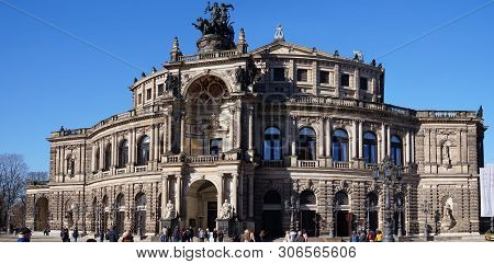 16.02.2019 Semperoper Is The Operatic Scene Of The Saxon State Opera Dresden. It Is Located On The T