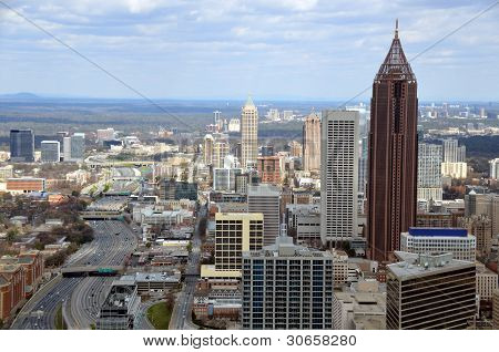Aerial View of Atlanta, Georgia