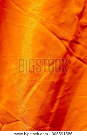 Orange Polyester Macro Abstract Background Fine Art In High Quality Prints
