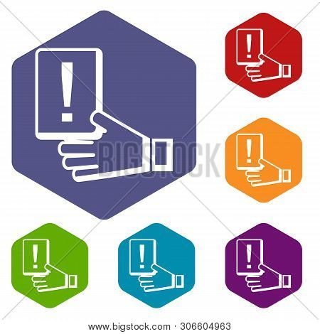 Penalty Card Icon. Simple Illustration Of Penalty Card Vector Icon For Web