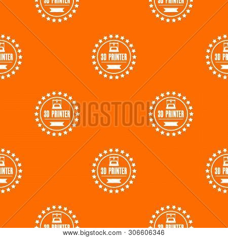 Prototype 3d Printing Pattern Vector Orange For Any Web Design Best