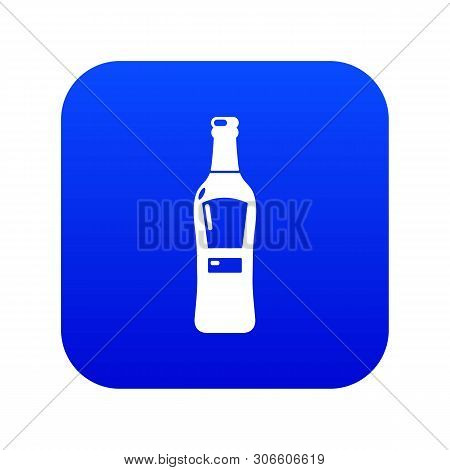 Bourbon Icon Blue Vector Isolated On White Background